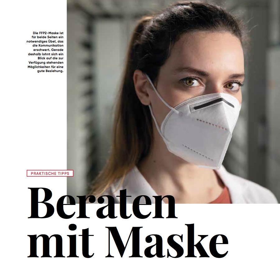 Beraten mit Maske